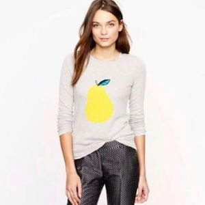 J Crew Pear Intarsia Sweater 🍐